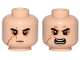 Part No: 3626cpb1908  Name: Minifig, Head Dual Sided SW Black Eyebrows, Sunken Eyes, Red Beauty Mark / Mole, Right Eye Scar, Neutral / Angry Pattern (Kylo Ren) - Stud Recessed