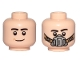 Part No: 3626cpb2090  Name: Minifigure, Head Dual Sided Black Eyebrows, Smile / Pilot Breathing Mask Pattern - Hollow Stud
