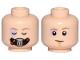 Part No: 3626cpb2231  Name: Minifigure, Head Dual Sided Male Bacta Tank Mask, Sunken Eye, Closed / Open Eyes Pattern (SW Luke) - Hollow Stud