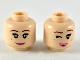 Part No: 3626cpb2367  Name: Minfigure, Head Dual Sided Female, Reddish Brown Eyebrows, Dark Orange Freckles, Dark Pink Lips, Smile / Wink Pattern - Hollow Stud