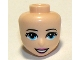 Part No: 37592  Name: Mini Doll, Head Friends with Bright Light Blue Eyes, Dark Pink Lips and Open Mouth Smile Pattern