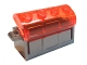 Part No: 4738ac02  Name: Container, Treasure Chest, Complete Assembly - Thick Hinge, Slots in Back with Trans-Neon Orange Lid