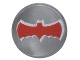 Part No: 98138pb040  Name: Tile, Round 1 x 1 with Red Bat Batman Logo Pattern (76052)