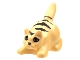 Part No: 6251px2  Name: Cat Crouching with Black Eyes, Nose, and Stripes Pattern