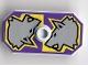 Part No: 48494pb01  Name: Minifigure, Shield Rectangular with Stud, Knights Kingdom Danju Wolf Pattern (Printed Version)