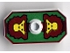 Part No: 48494pb02  Name: Minifig, Shield Rectangular with Stud, Knights Kingdom Rascus Monkey Pattern (Printed Version)