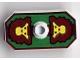 Part No: 48494pb02  Name: Minifig, Shield Rectangular with Stud, Knights Kingdom Rascus Monkey Pattern (Nonstickered Version)