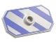 Part No: 48494pb06  Name: Minifigure, Shield Rectangular with Stud, Blue-Violet Diagonal Stripes Pattern