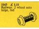 Set No: 1143  Name: Wheel Bricks with Large Red Train Wheels