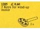 Set No: 1205  Name: Keys for Wind-Up Motor