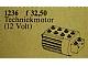 Set No: 1236  Name: 12V Technic Motor