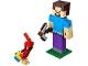 Set No: 21148  Name: Minecraft Steve BigFig with Parrot