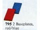 Set No: 795  Name: Baseplates, Red and Blue