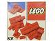 Set No: 807  Name: Extra Plates Red