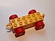 invID: 118087239 P-No: 11248c01  Name: Duplo Car Base 2 x 6 with Yellow Wheels with Fake Bolts and Open Hitch End