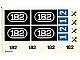invID: 22824848 P-No: 182stk01  Name: Sticker for Set 182 - (004590)