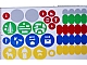 Gear No: 45100stk01  Name: Sticker Sheet for Storage Trays of Set 45100 - (13101/6023521)