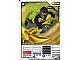 Gear No: 4613788  Name: Ninjago Masters of Spinjitzu Deck #1 Game Card 14 - Cole DX - International Version