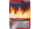 Gear No: 4621823  Name: Ninjago Masters of Spinjitzu Deck #1 Game Card 24 - Wall of Fire - North American Version