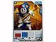 Gear No: 4621844  Name: Ninjago Masters of Spinjitzu Deck #1 Game Card 6 - Krazi - North American Version