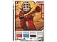 Gear No: 4643472  Name: Ninjago Masters of Spinjitzu Deck #2 Game Card 3 - Kendo Kai - International Version