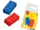 Gear No: 5838  Name: Eraser, LEGO Brick Eraser Set of 2 (Blue, Red)