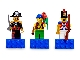 Gear No: 852543  Name: Magnet Set, Minifigures Pirates II (3) - Captain Brickbeard, Pirate, Imperial Soldier II - with 2 x 4 Brick Bases blister pack
