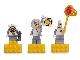 Gear No: 852547  Name: Magnet Set, Minifigures SpongeBob SquarePants (3) Space - SpongeBob, Sandy Cheeks, Patrick Star - with 2 x 4 Brick Bases