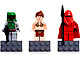 Gear No: 852552  Name: Magnet Set, Minifigures SW (3) - Boba Fett, Leia, Royal Guard - with 2 x 4 Brick Bases