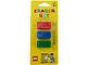 Gear No: 852706  Name: Eraser, LEGO Brick Set of 3 (Red, Blue & Green) blister pack