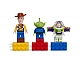 Gear No: 852949  Name: Magnet Set, Minifigures Toy Story (3) - Woody, Alien, Buzz Lightyear - with 2 x 4 Brick Bases blister pack