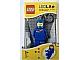 Gear No: LGL-KE10blue  Name: LED Key Light Classic Space Minifigure Key Chain Blue (LEDLite)