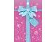 Gear No: clikits208pb04  Name: Gift Bag, Party Favor Clikits with Snowflakes, Ribbon, and Bow