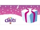 Gear No: clikits255pb04  Name: Gift Tag, Clikits Light Blue Package with Magenta Ribbon