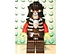 Gear No: magcasfantasy01  Name: Magnet, Minifigure Castle Fantasy Era Skeleton Warrior 2, Black Breastplate and Helmet, Dark Red Arms, Yellow Hands, Black Hips and Legs