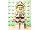 Gear No: magcasfantasy02  Name: Magnet, Minifigure Castle Fantasy Era Crown Knight with Breastplate, Helmet with Visor, Curly Eyebrows and Goatee, Black Hips, Light Bluish Gray Legs