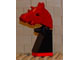 Gear No: vik036  Name: Viking Chess Piece Red Knight - Portions may be Glued