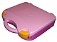 Gear No: 759528c01  Name: Storage Case with Rounded Corners and Bright Pink Lid, Yellow Latches