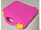 Gear No: 759528c04  Name: Storage Case with Rounded Corners and Dark Pink Lid, Yellow Latches