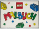 Book No: b97col01  Name: Coloring Fun Book ('Malbuch') with Bricks on white Cover (8 pages)
