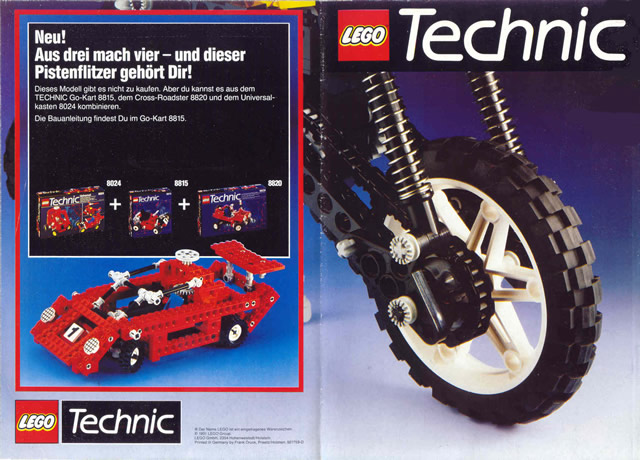 Bricklink Catalog C91det Lego 1991 Medium Technic German