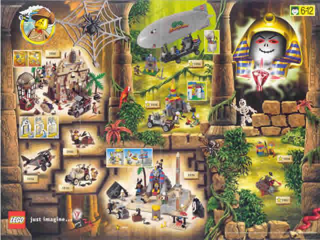 BrickLink - Catalog m99adv : Lego 1999 Mini Adventurers (4124529-IN