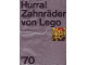 Catalog No: c70degear  Name: 1970 Medium German - Hurra! Zahnräder von Lego