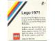 Catalog No: c71os  Name: 1971 Medium Overseas (3551-OS)