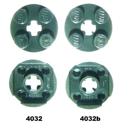 Lego 10 x Platte 4032 neu dunkelgrau  2x2 rund  mit Achsloch