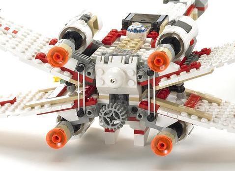 Lego 4502 X-Wing Dagobah version playability - YouTube