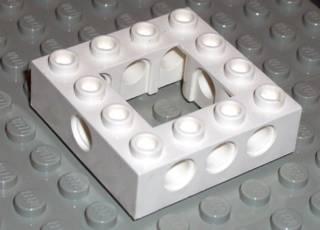 LEGO PART 32324 LIGHT BLUISH GREY TECHNIC BRICK 4 X 4 OPEN CENTER X2 PCS