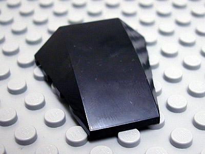 LEGO 47753 WEDGE 4x4 NO TOP STUDS QTY x 4 BLACK BRAND NEW