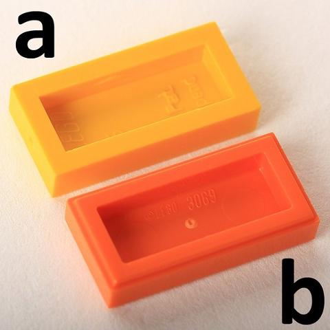 Dark Orange New Earth Orange Lego 50 1x2 Tile 3069
