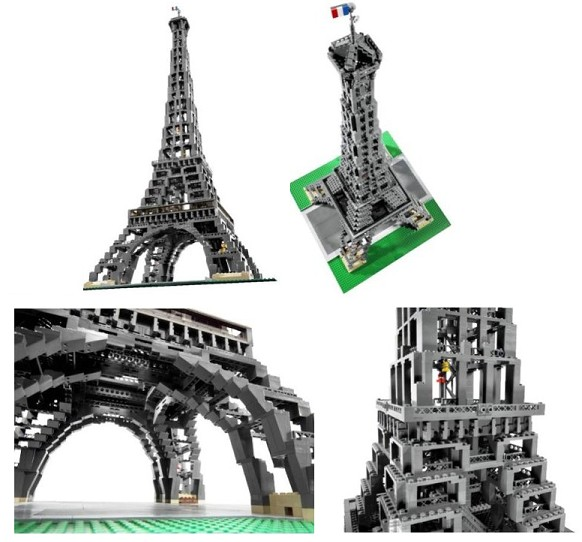 Bricklink Set 10181 1 Lego Eiffel Tower 1300 Scale Sculptures